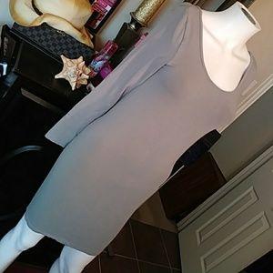 🔥 GREY STRETCH DRESS NWOT